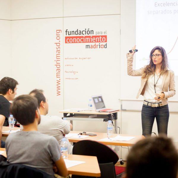 Monica Galán, de El Arte de Presentar, en la sede de la Fundación de para el Conocimiento, Madrid. www.madridmasd.org
